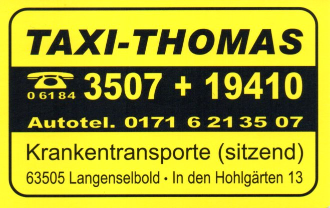 Logo Taxibetrieb Stefan Thomas KG